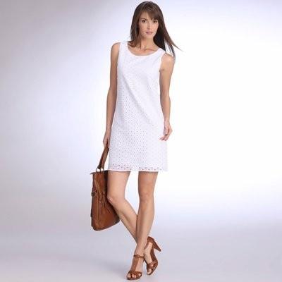 Dentelle blanche robe photo
